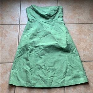 J. Crew Spring Green Strapless Cotton Dress Size 8